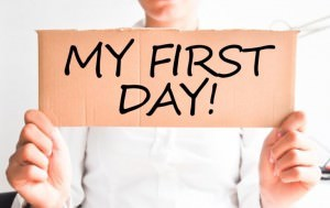 Employee's first day of work