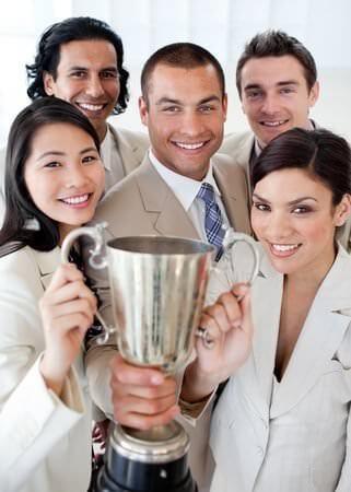 Money saving success trophy