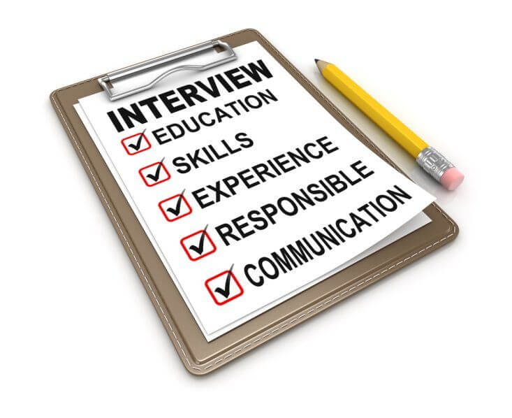 Employment interview checklist